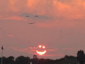 sunset smile