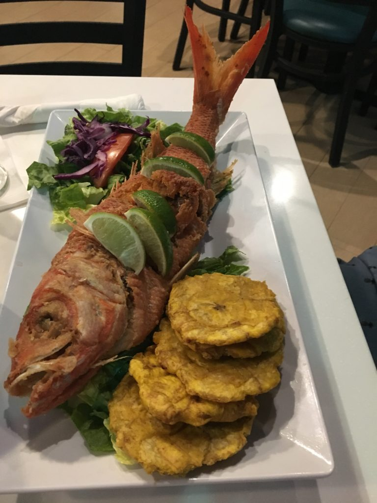 Chillo, Red Snapper and Tostones
